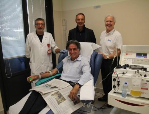 All'AVIS il Prof. Giorgio Pagliari  festeggia la sua 180ma donazione.