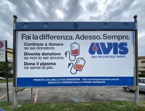 """E' on air la nuova campagna AVIS Provinciale Parma: """"Fai la differenza. Adesso. Sempre."""""""
